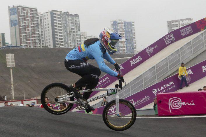 Revancha para Pajón en Lima; la colombiana logra oro en BMX