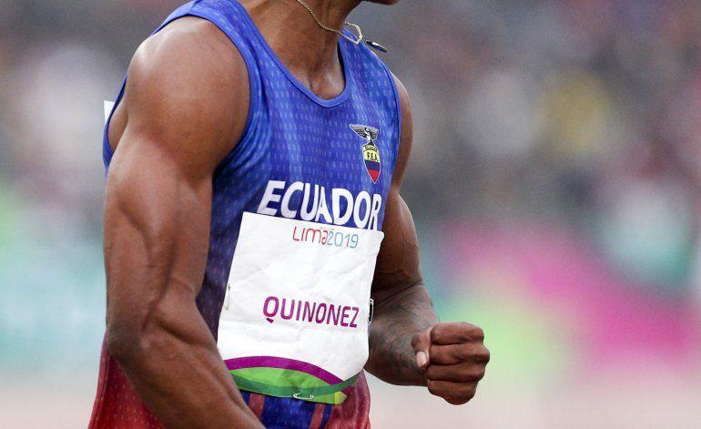 Quiñónez consigue para Ecuador oro inédito en atletismo