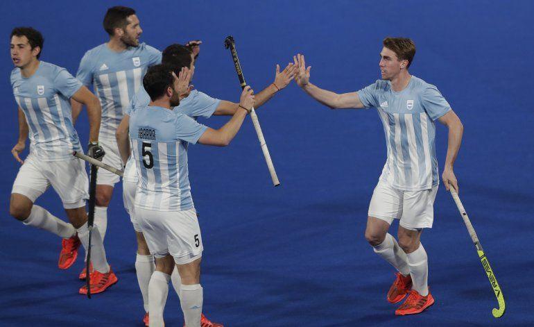 """""""Leones"""" argentinos ganan 3er oro al hilo en hockey"""