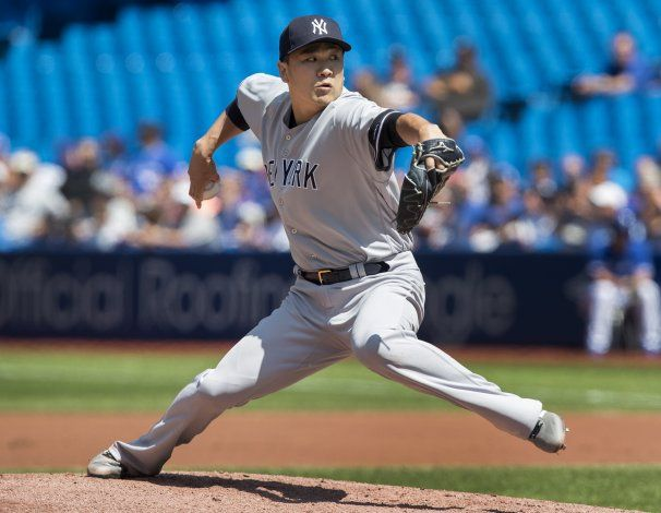 Tanaka y Chapman limitan a los Azulejos y los Yanquis ganan
