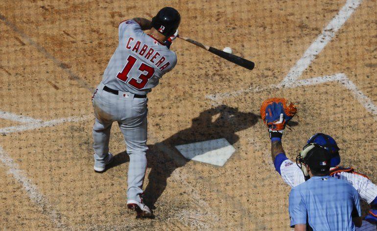 Cabrera define por Nacionales en victoria sobre Mets