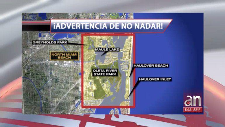 Aviso de precaución en playa de Miami por derrame de aguas residuales