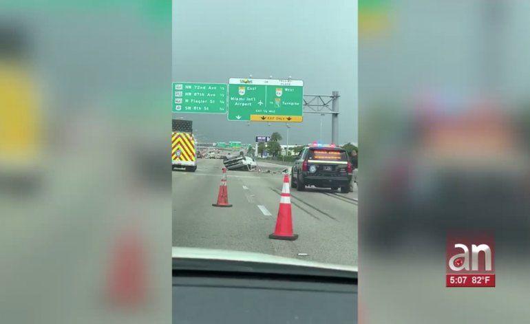 Una persona murió en aparatoso accidente en el Palmetto Expressway