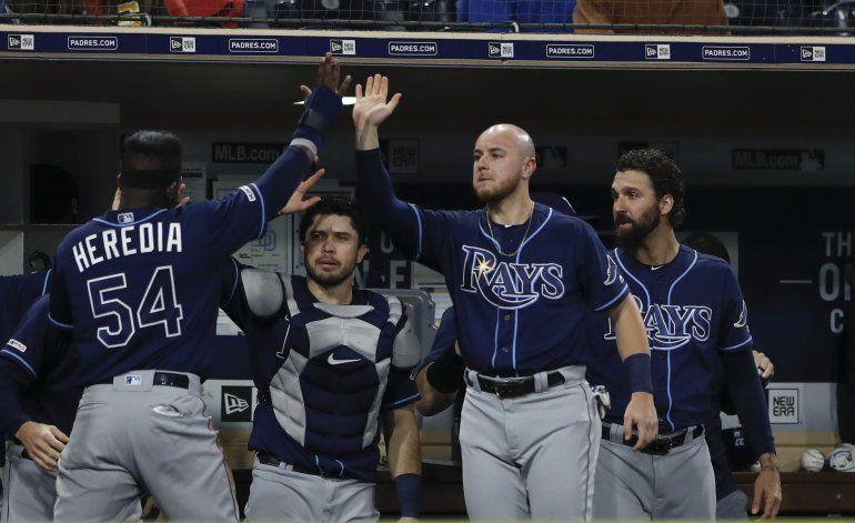 García jonronea, Duffy pega 4 hits y Rays aplastan a Padres