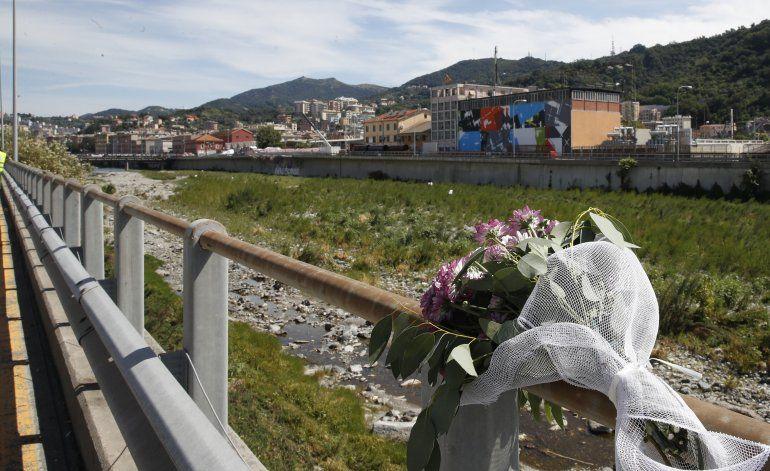 Nuevo puente de Génova estará listo en abril