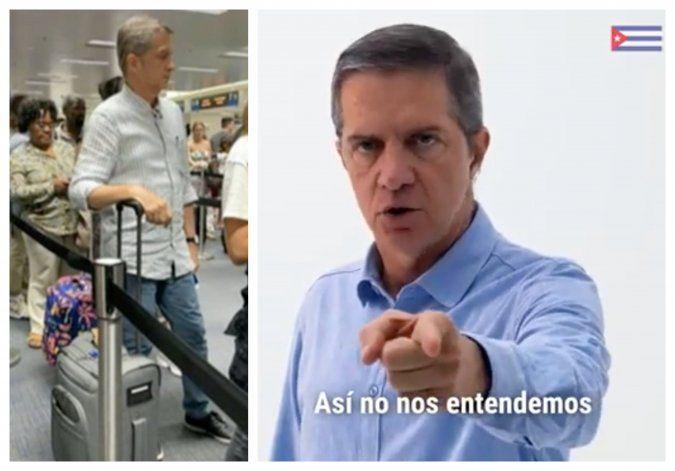Captado entrando a Miami el actor protagonista de la campaña contra la Ley Helms-Burton,  Fernando Echevarría