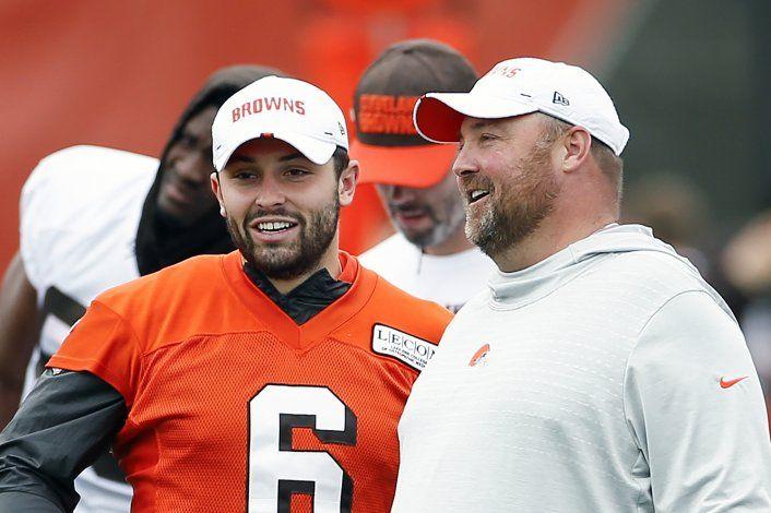 """Mayfield """"aclara las cosas"""" con quarterback de los Giants"""