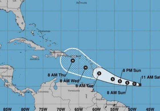 Depresión tropical podría fortalecerse al acercarse a Caribe