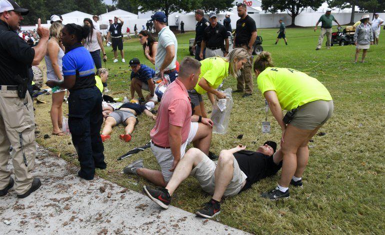 Rayo deja 6 heridos durante Campeonato del Tour