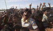 Refugiados rohinya protestan por trato en Myanmar