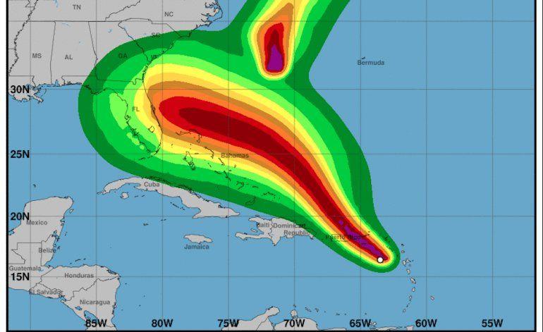 Dorian se intensifica cerca de Puerto Rico y azotaría a Florida como huracán categoría 2