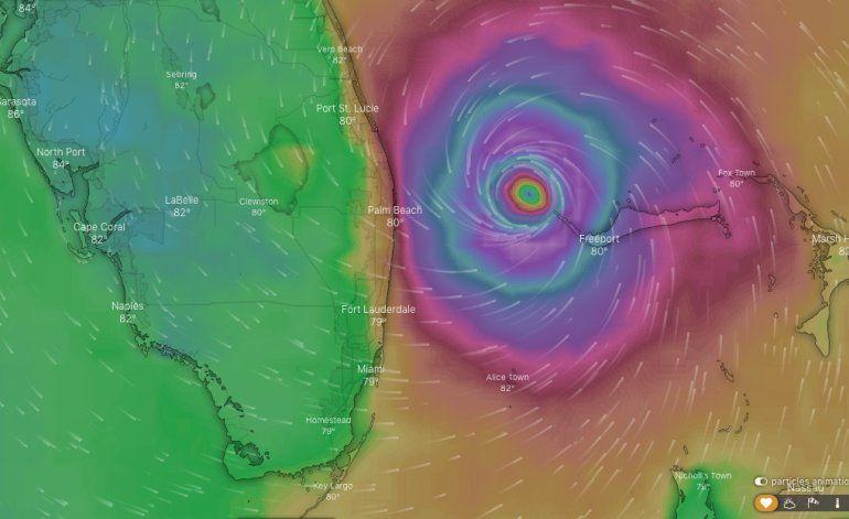 Modelos apuntan a la entrada del huracán Dorian al condado Palm Beach