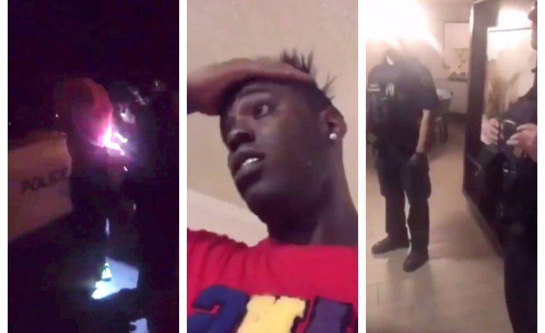 El controversial reguetonero cubano Chocolate MC, graba el momento exacto cuando es arrestado en Portland, Oregón