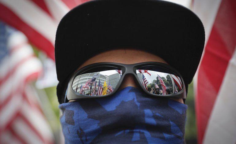 """Manifestantes piden a Trump que """"libere"""" Hong Kong"""