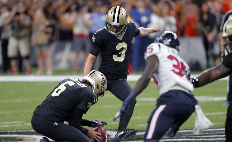 Gol de campo de 58 yardas de Lutz da triunfo a Saints