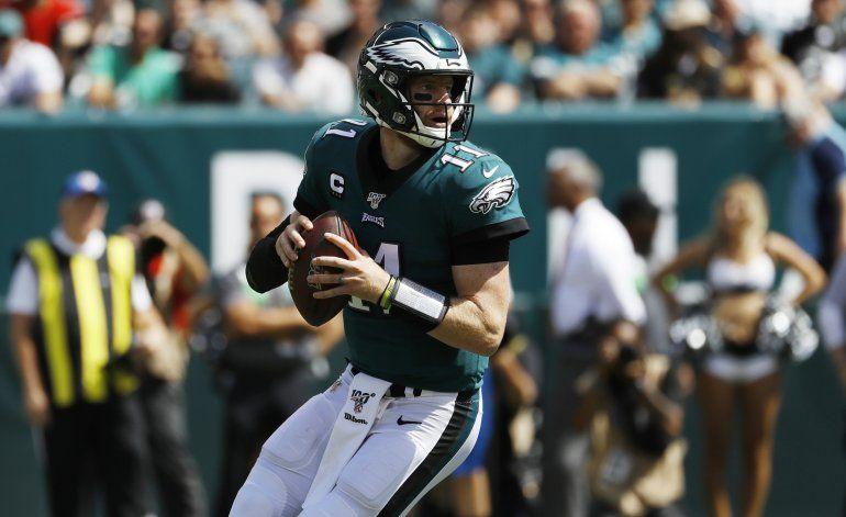 Wentz y Jackson muestran la dinámica ofensiva de Eagles