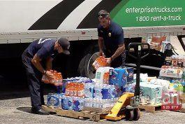 continuan las donaciones para los damnificados de bahamas