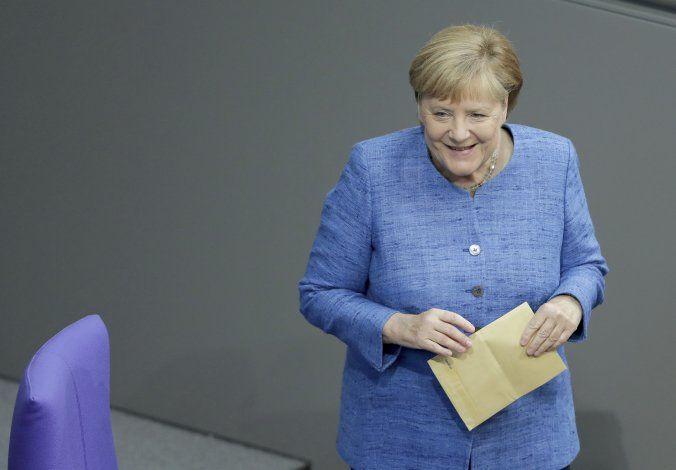 Merkel defiende las inversiones contra el cambio climático