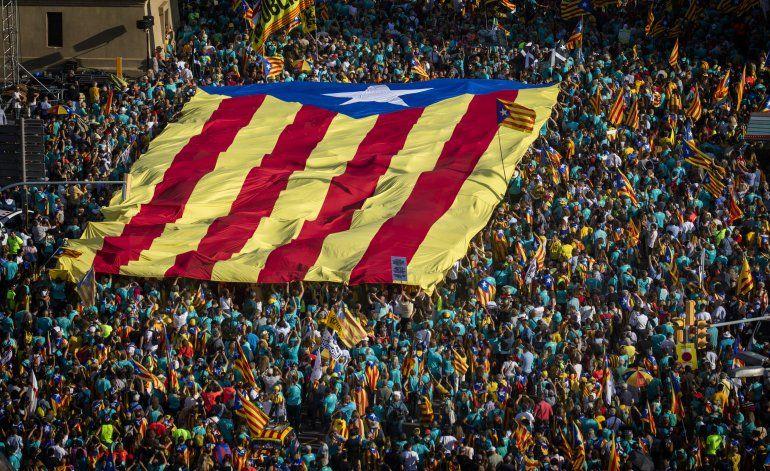 Masiva protesta por independencia en Barcelona