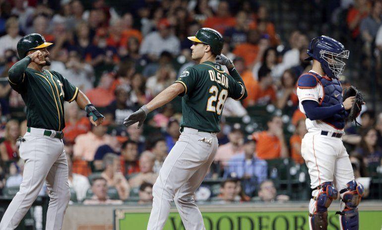 Atléticos superan a Astros y tienen ahora el 1er comodín