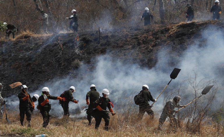 UE y EEUU comprometen más ayuda para incendios en Bolivia