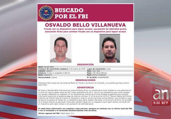FBI busca a cubano prófugo acusado de robarle la información financiera a miles de personas