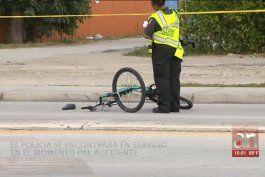 un policia atropella a un ciclista en el noreste de miami
