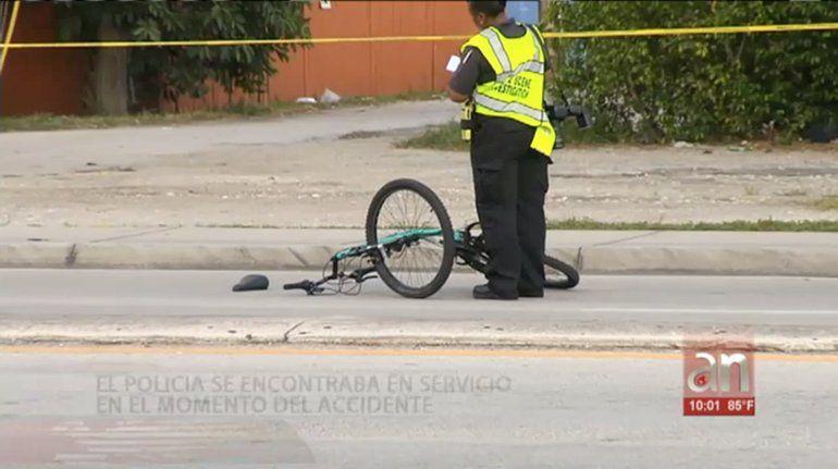 Un policía atropella a un ciclista en el noreste de Miami