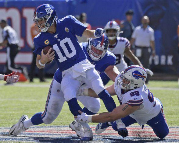 Giants dan tumbos; Manning, más cerca de ser suplente