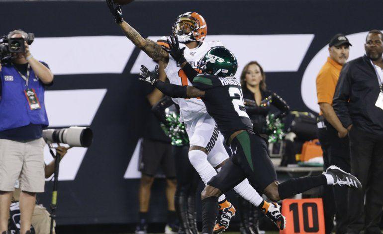 Beckham brilla en regreso a NY y Browns arrollan a Jets