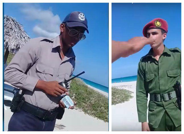 Un cubano quiso bañarse en una de las playas de Varadero y termino siendo detenido por la policía