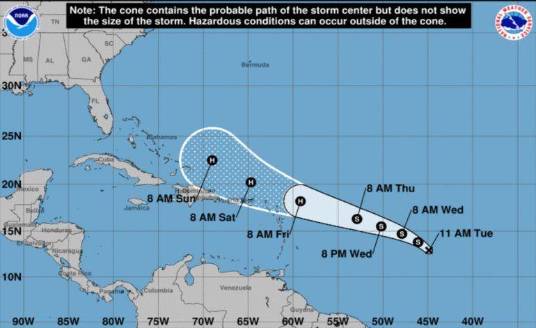 Una nueva depresión tropical se forma en el Atlántico y podría transformarse en huracán