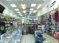 captados en camaras quedo el robo de mas de 400 celulares de una tienda de miami