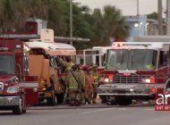 camion de basura se estrella contra un bus escolar dejando a un hombre gravemente herido