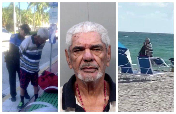 Capturan a hombre huyendo tras robar la mochila de una mujer que se bañaba en la playa de Miami Beach