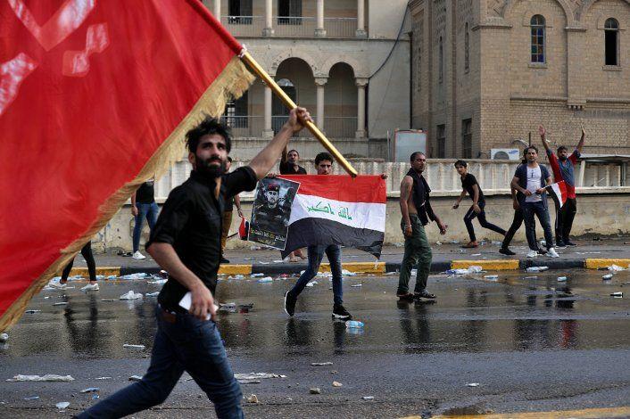 Fuerte seguridad en Bagdad tras muerte de dos manifestantes