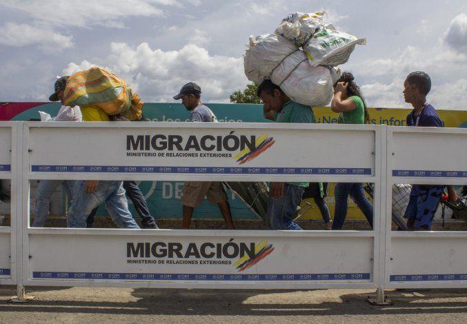 Migrantes internos abarrotan ciudad fronteriza en Venezuela