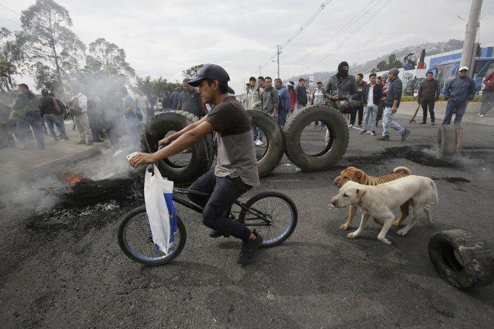 Ecuador declara estado de excepción en medio de protestas