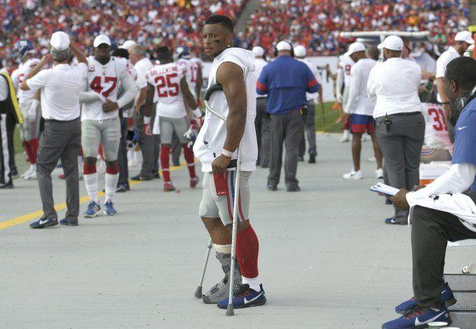 Giants: Saquon Barkley se pierde otra práctica por lesión
