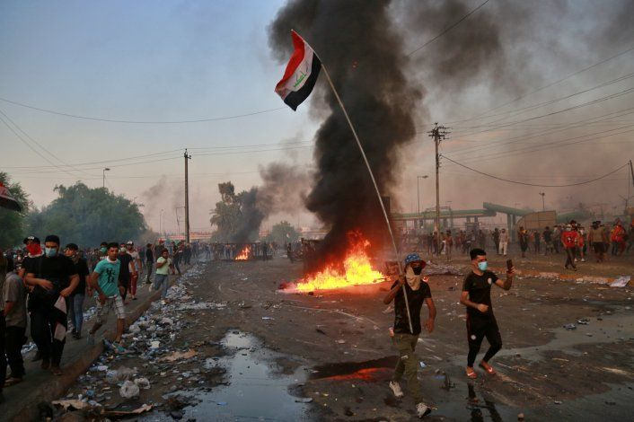 Mueren más de 17 manifestantes en protestas en Bagdad
