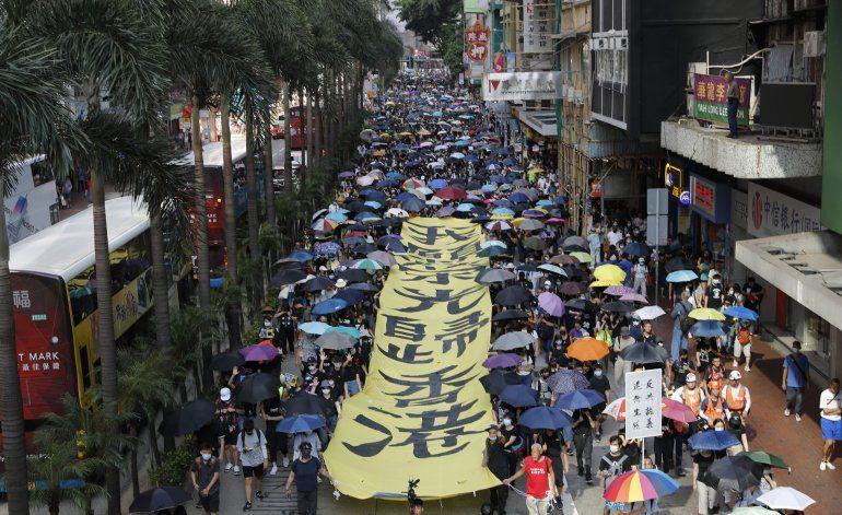 Demanda en Hong Kong contra prohibición de uso de máscaras