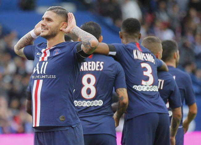 PSG vapulea 4-0 a Angers con goles de Icardi y Neymar