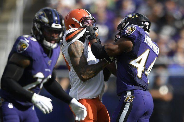Beckham, multado por pelea contra jugador de Ravens