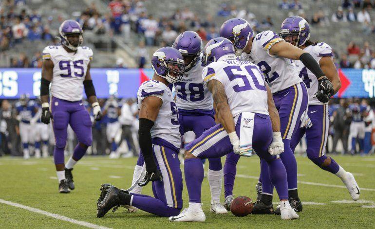 Cousins y Thielen guían a Vikings a triunfo sobre Giants