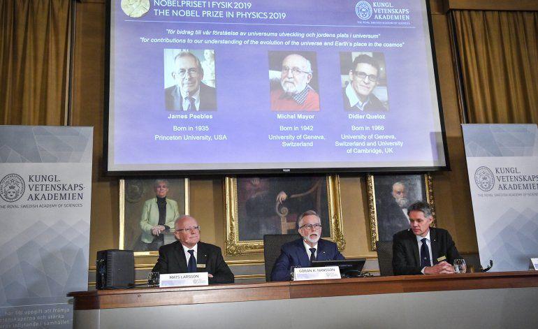 Nobel de Física premia estudio sobre evolución del universo