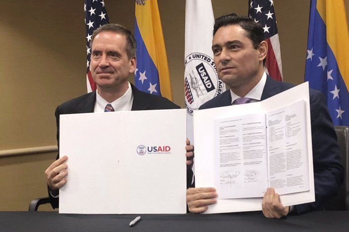 USAID suscribe acuerdo cooperación con Guaidó