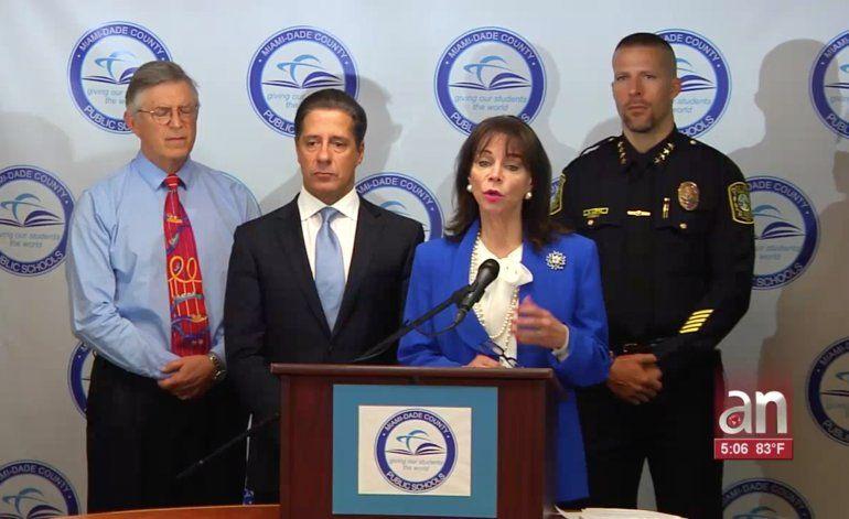 Autoridades de Miami anuncian campaña por amenazas en recintos escolares