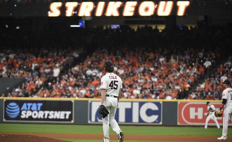 Cole busca cerrar Serie Divisional para Astros contra Rays