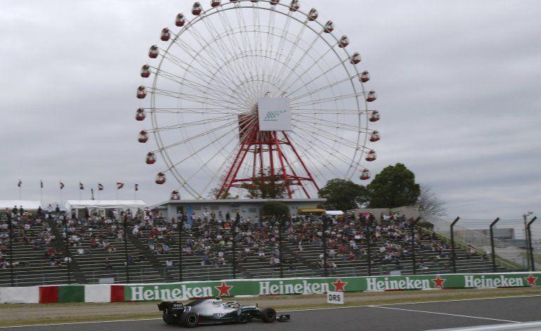 F1: Bottas lidera prácticas en Japón ante amenaza de tifón