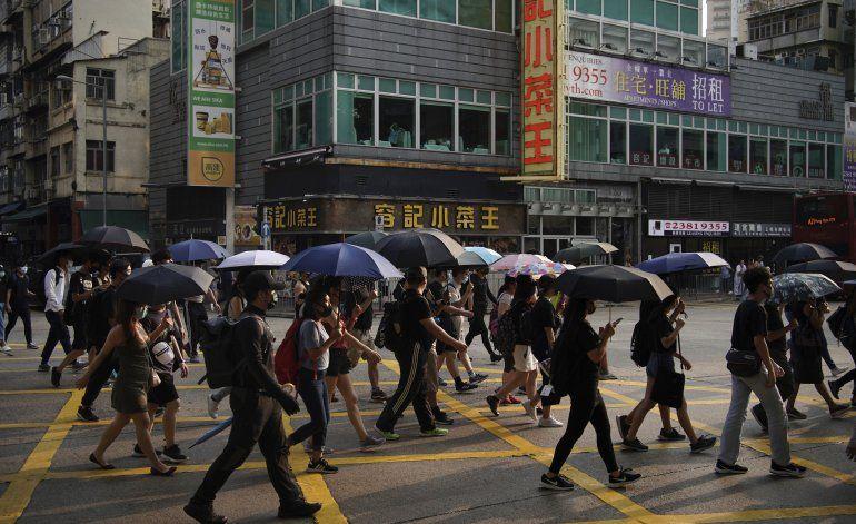 Miles vuelven a marchar en Hong Kong